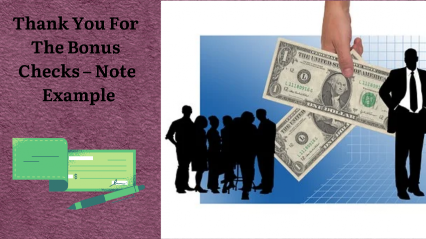 Thank You For The Bonus Checks - Note Example