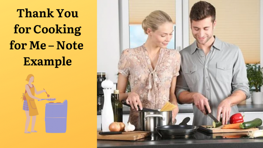 Thank You for Cooking for Me - Note Example