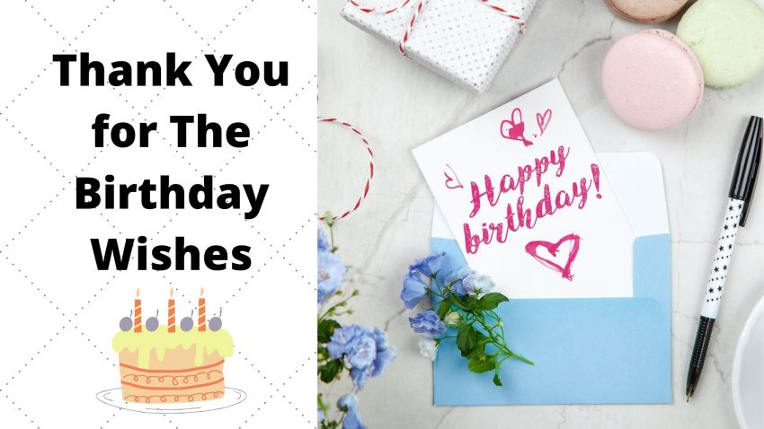 Thank you for the birthday wishes quotes