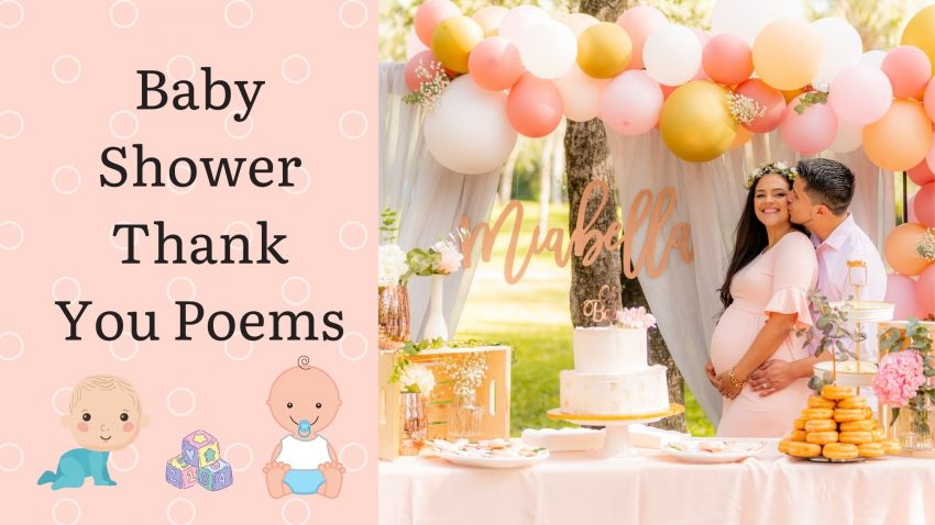 Baby shower Thankyou poems