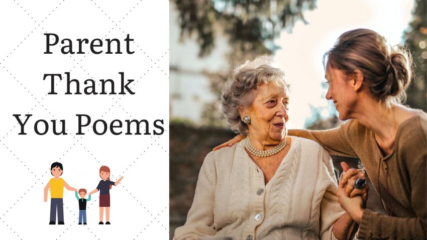 Parent Thank you poems