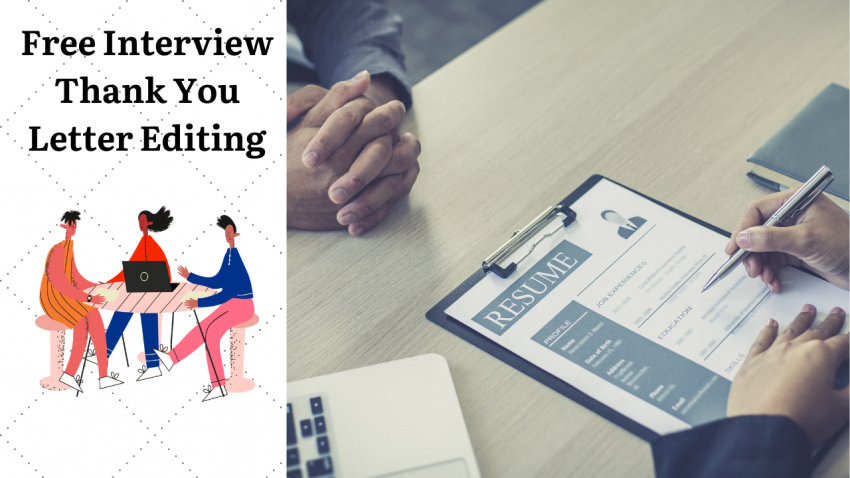 Free Interview Thank You Letter Editing